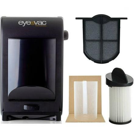 EyeVac EVPRO Tuxedo Black Professional Touchless Vacuum Cleaner + Extra  Reusable Exhaust Filter + Extra HEPA Pre-Motor Filter + Pre-Motor Flexible