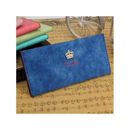 Women Nubuck Crown Long Purse Clutch Wallet Card Holder Money Clip Pocket  HOT - Walmart.com 7c4a7335a