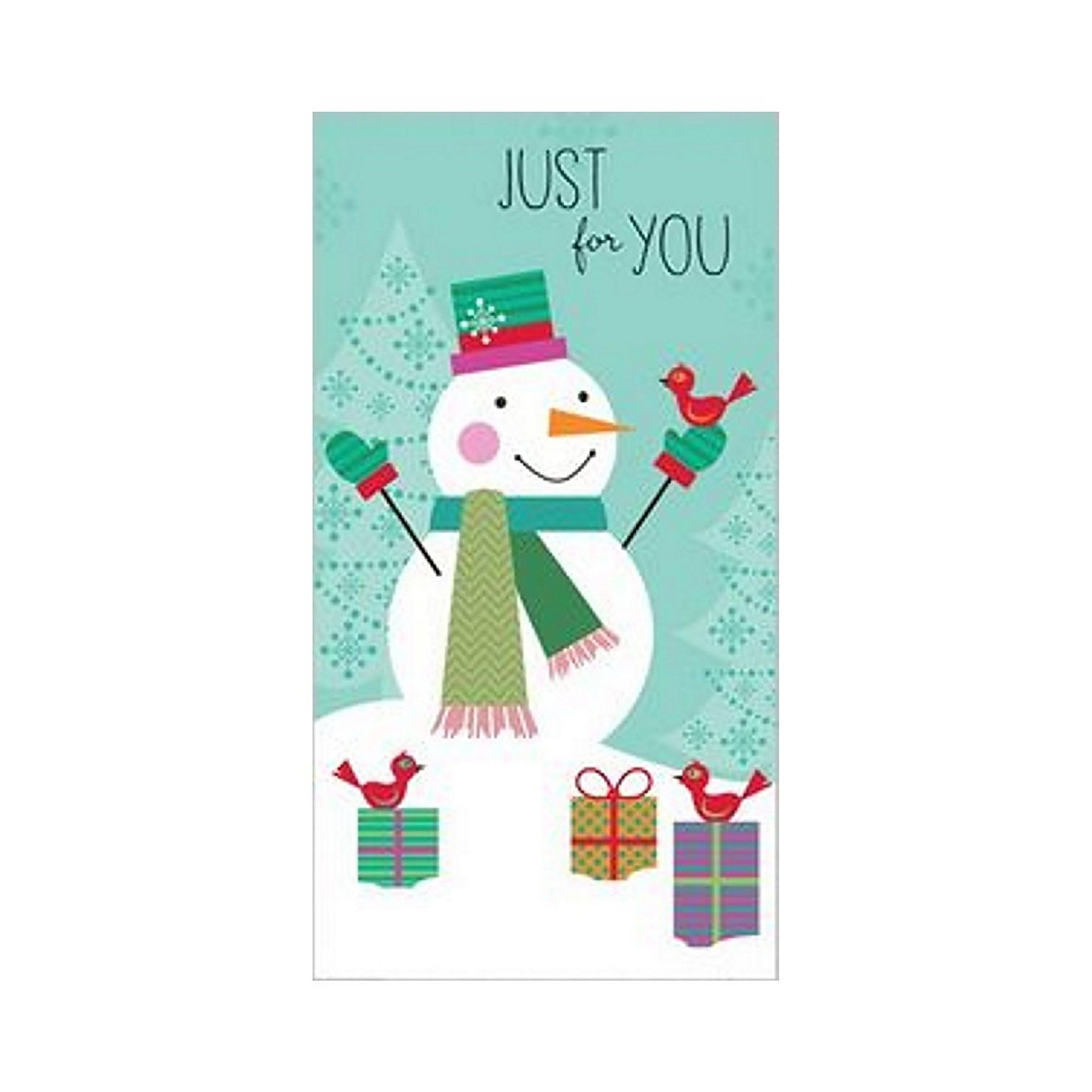 snowman christmas gift card holder with white envelopes