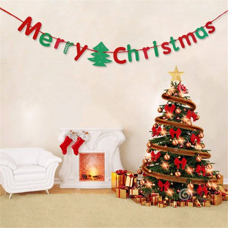 ''Merry Christmas''Bunting Xmas Tree Wall Hanging Decor Banner Flags Garland Tree Wall Hanging Decor](Thumbprint Wedding Tree)