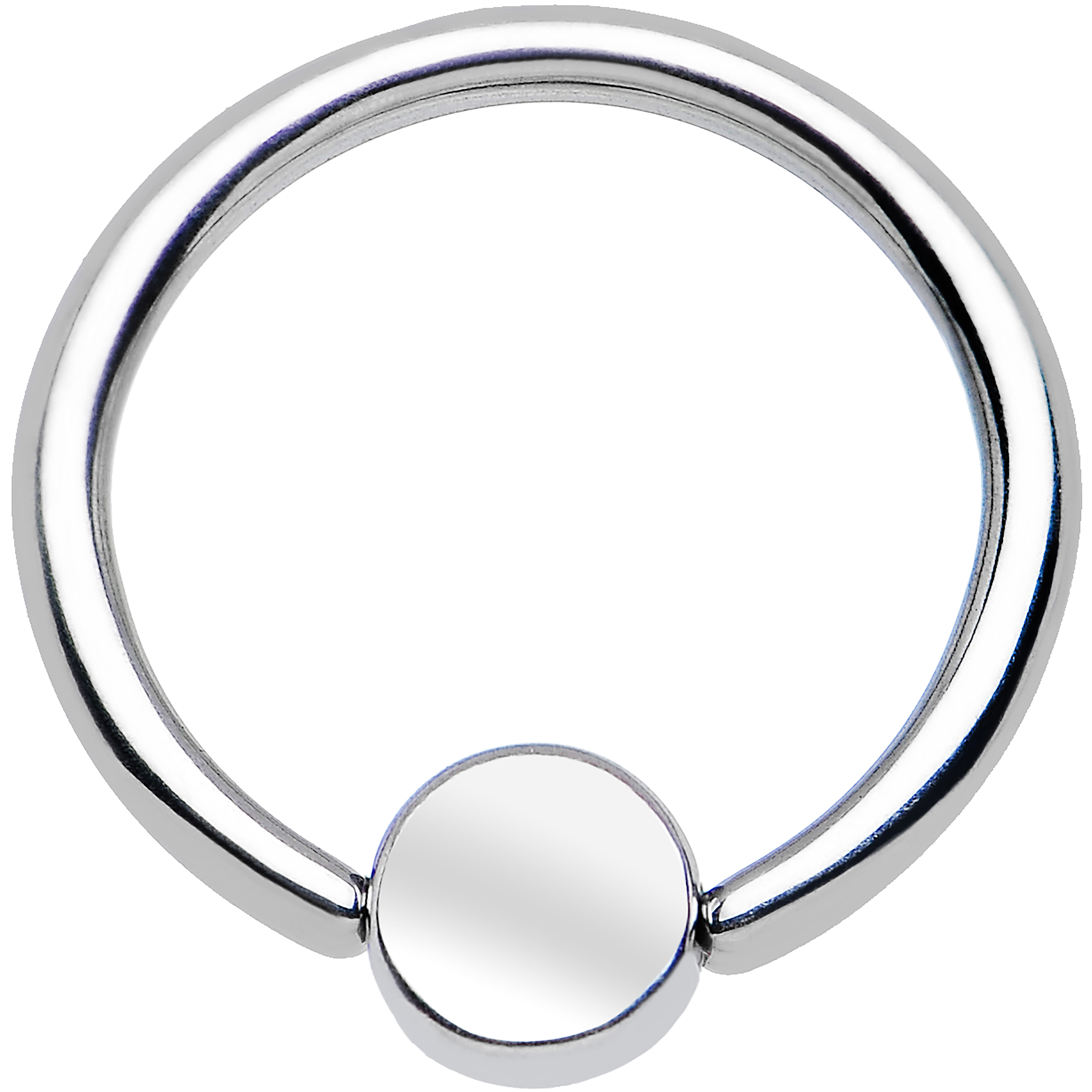 Stainless Steel BCR Captive Ring 4mm Flat Disc16 Gauge 3/8
