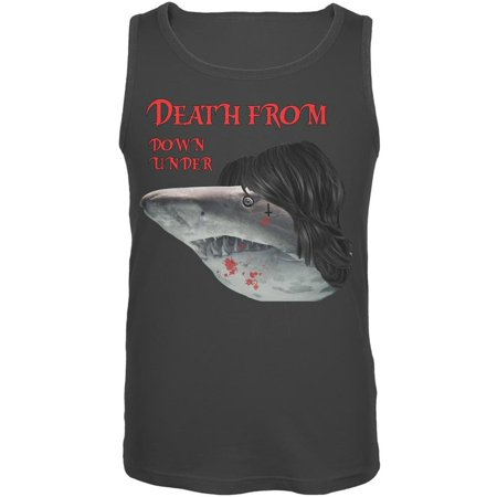 - Death From Down Under Shark Charcoal Gray Adult Tank Top