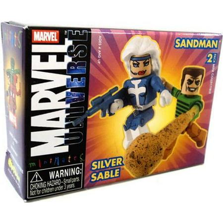 Marvel Universe Minimates Series 10 Silver Sable & Sandman 2 Minifigure