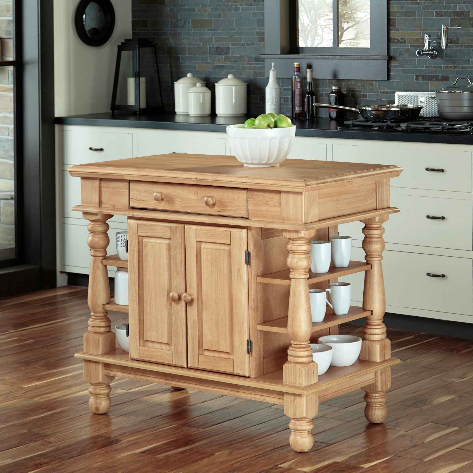 Americana Natural Kitchen Island