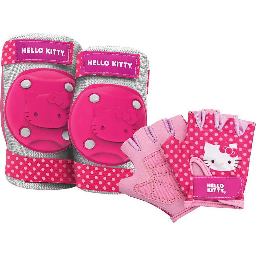 Hello Kitty Kids Bike Accessory Pads//Gloves Protective Gear