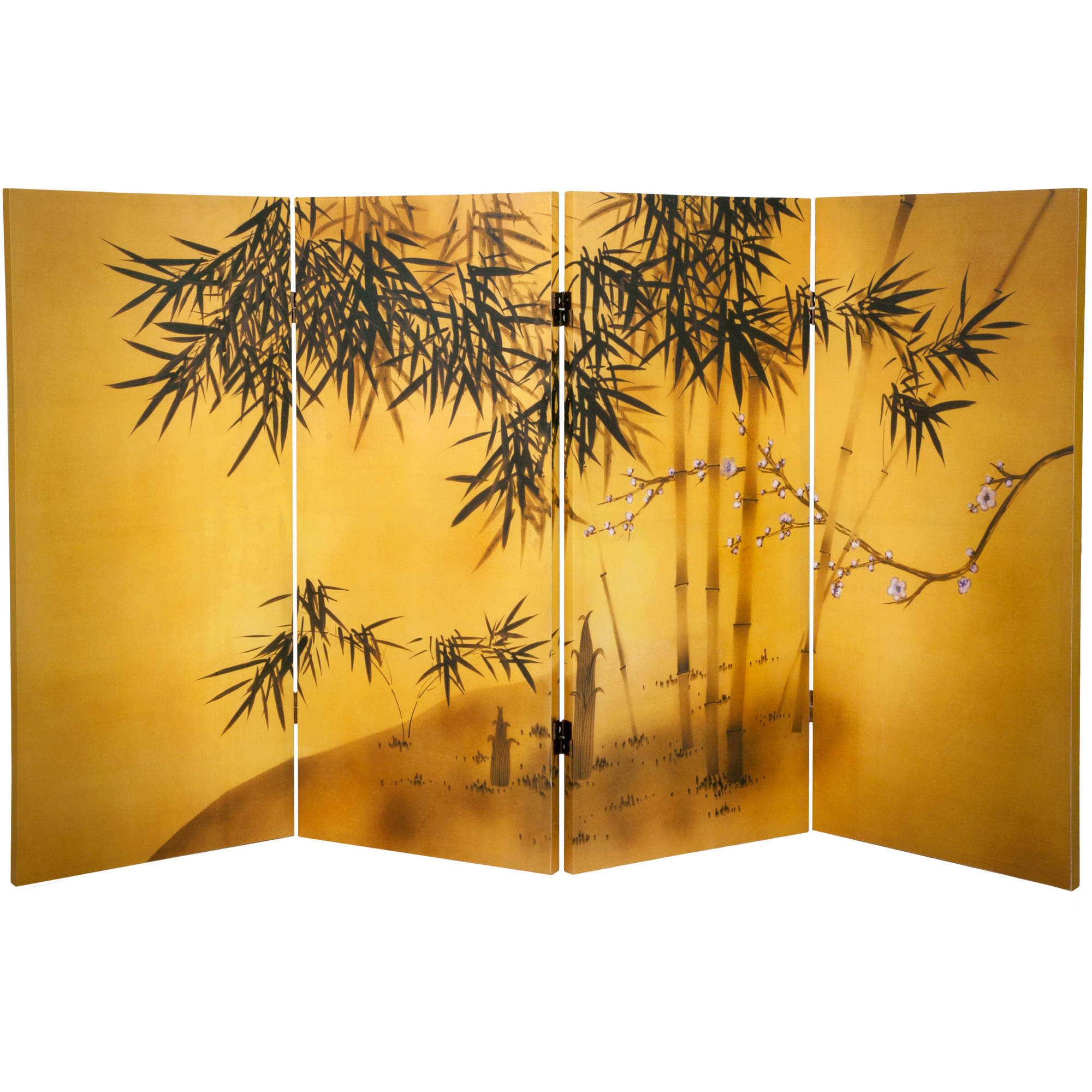 3' Tall Double Sided Bamboo Tree Canvas Room Divider