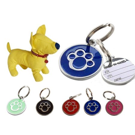 Heepo Anti-lost Puppy Dog Cat Collar ID Tags Pendant Mini Claw Print Pet Supplies