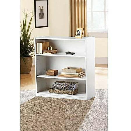 Mainstays 3Shelf Bookcase Multiple Finishes Walmart – Mainstays 3 Shelf Bookcase