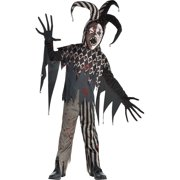 Twisted Jester Halloween Costume for Boys, Extra Large, with Accessories