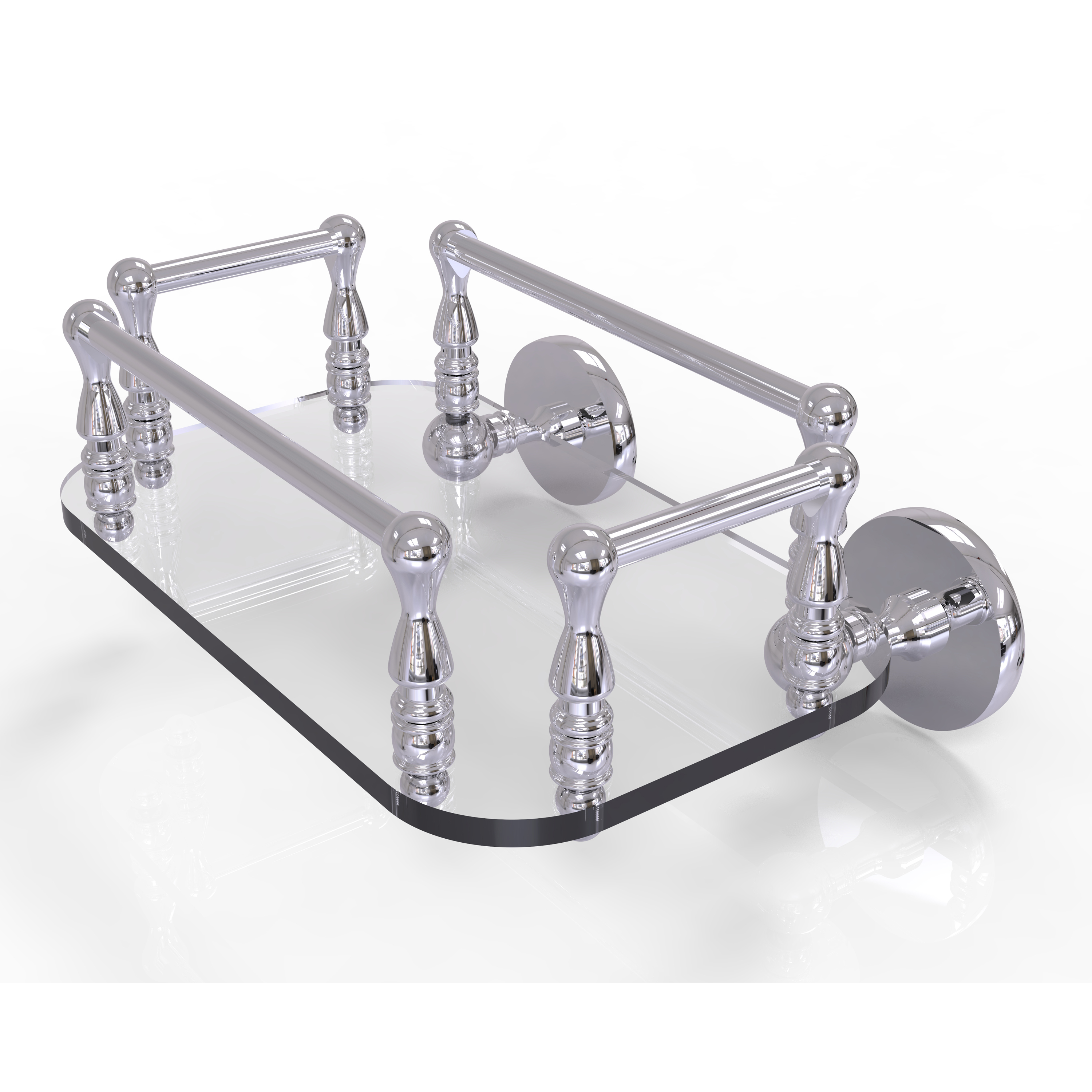 Prestige Skyline Collection Wall Mounted Glass Guest Towel Tray