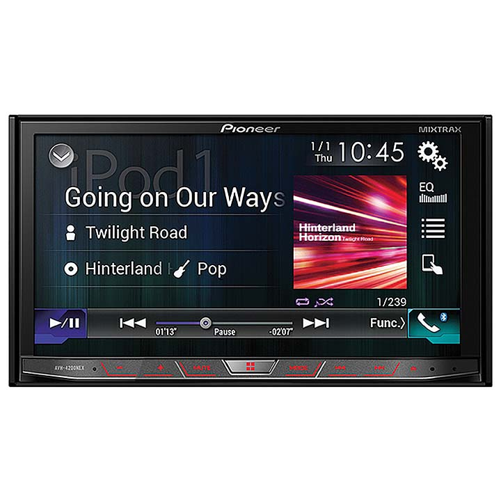 "Pioneer AVH-4200NEX Double Din In Dash Multimedia DVD Receiver with 7"" WVGA Touchscreen Display"