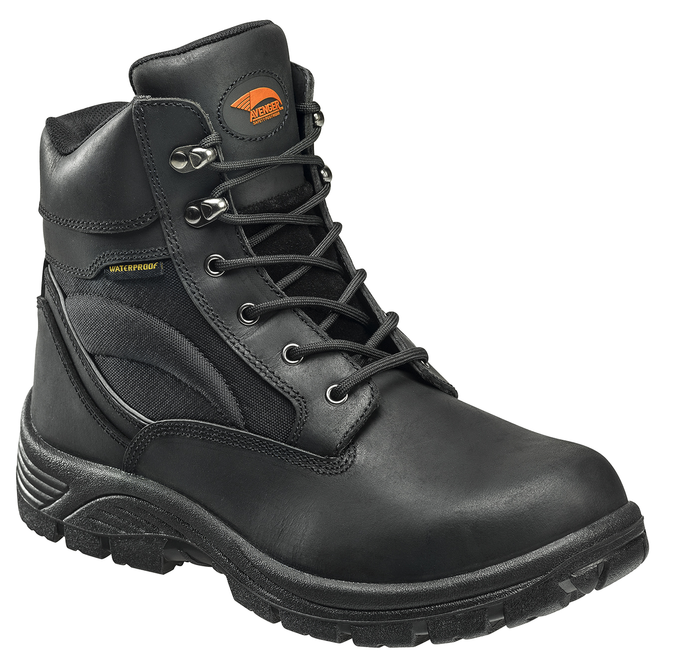 "Avenger Men's 7227 6"" Leather and Cordura EH Waterproof Slip Resistant Safety Toe Work Boot"