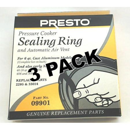 3 Pk, Presto Pressure Cooker Sealing Ring Gasket For 6 Qt,