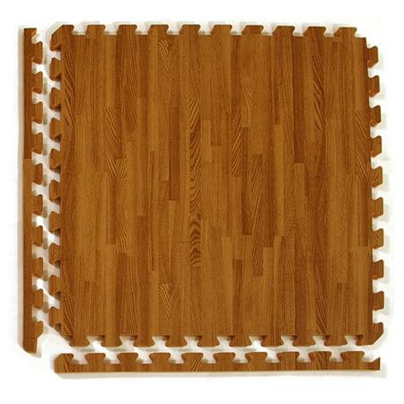Greatmats Wood Grain Reversible Foam Interlocking 2 Ft X 2 Ft X 1
