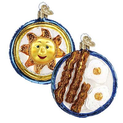 32080-sunnyside-up Bacon and Eggs Ornament Old World Christmas