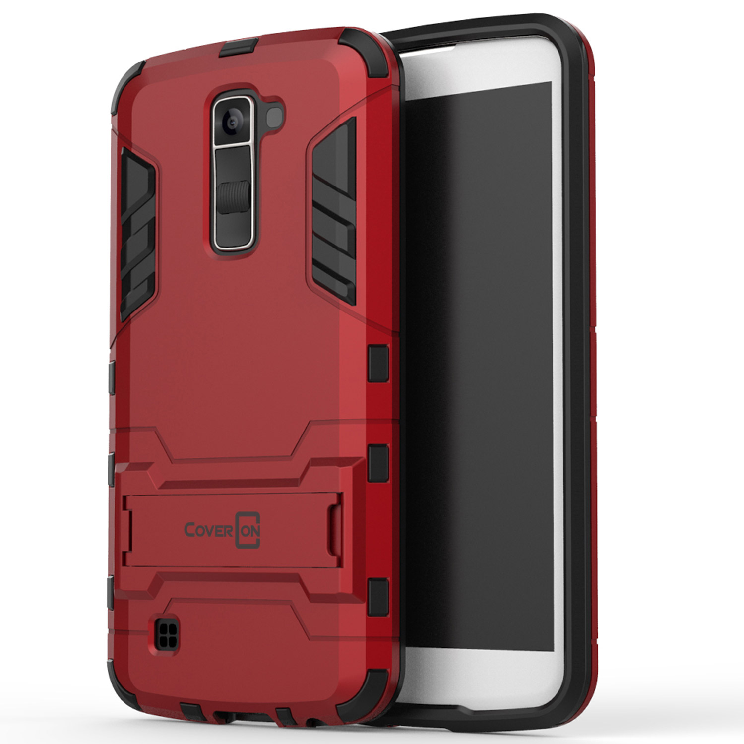 more photos 3032c 95382 CoverON LG K10 (2016) / Premier Case, Shadow Armor Series Hybrid Kickstand  Phone Cover