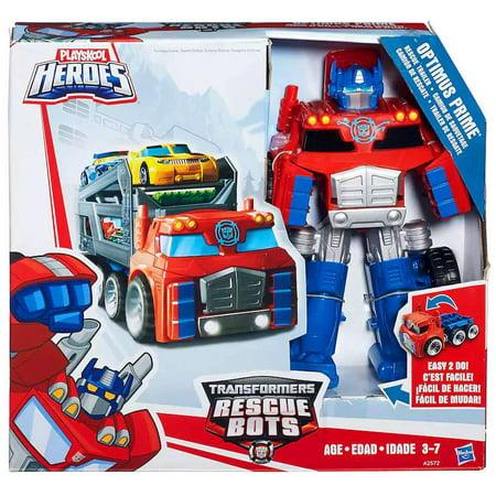 Transformers Playskool Heroes Optimus Prime Rescue Trailer Playset (Optimus Prime Trailer)