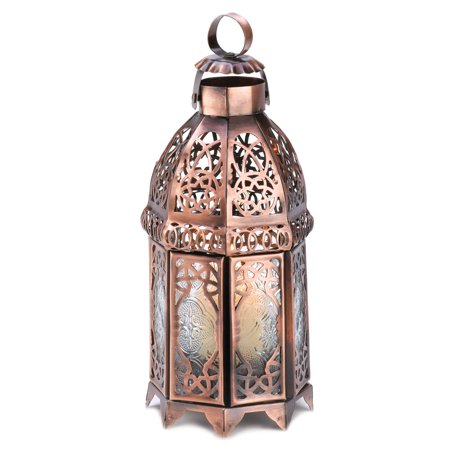 Moroccan Lanterns, Rustic Lantern Table Lamp, Copper Decorative Candle - Copper Moroccan Candle Lamp