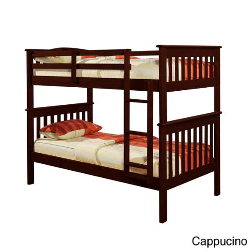Donco Kids Mission Twin/ Twin Bunk Bed Cappucino