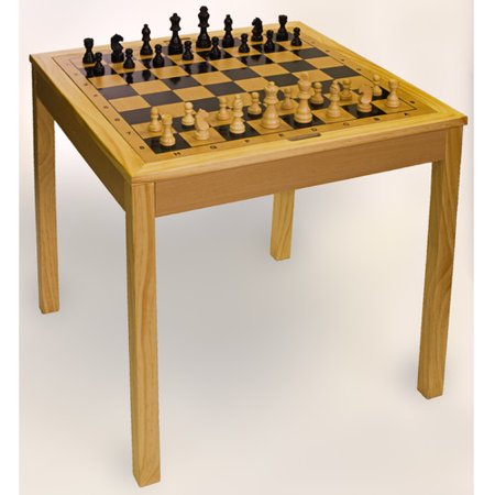 Wooden Chess Game - Sterling Games Wooden Chess Table