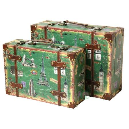 Vintiquewise Vintage Style European Luggage Suitcase, Set of 2 ()