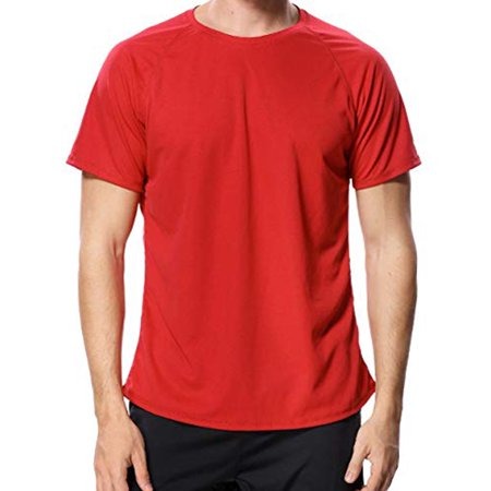LELINTA Mens Active Tops & T-Shirts Men Sun Tee Loose Fit Rashguard Swim Shirt Regular & Big/Tall Sizes Big And Tall Relaxed Fit T-shirt