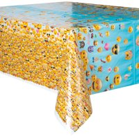 Emoji Plastic Party Tablecloth, 84in x 54in, Rectangle, 1ct