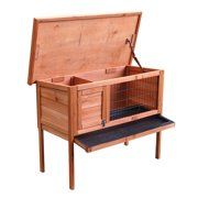 "36"" Single Deck Waterproof Wooden Chicken Coop Hen House Pet Animal Poultry Cage Rabbit Hutch Natura"