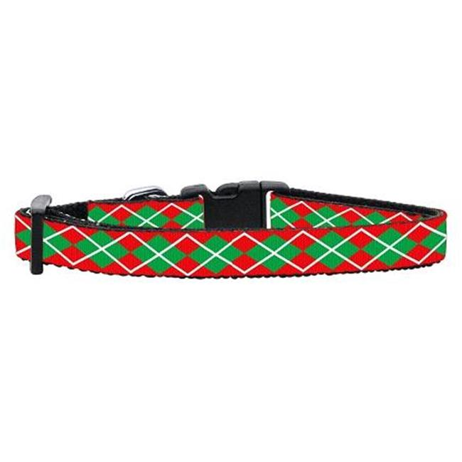 Christmas Argyle Nylon Ribbon Collar Cat Safety
