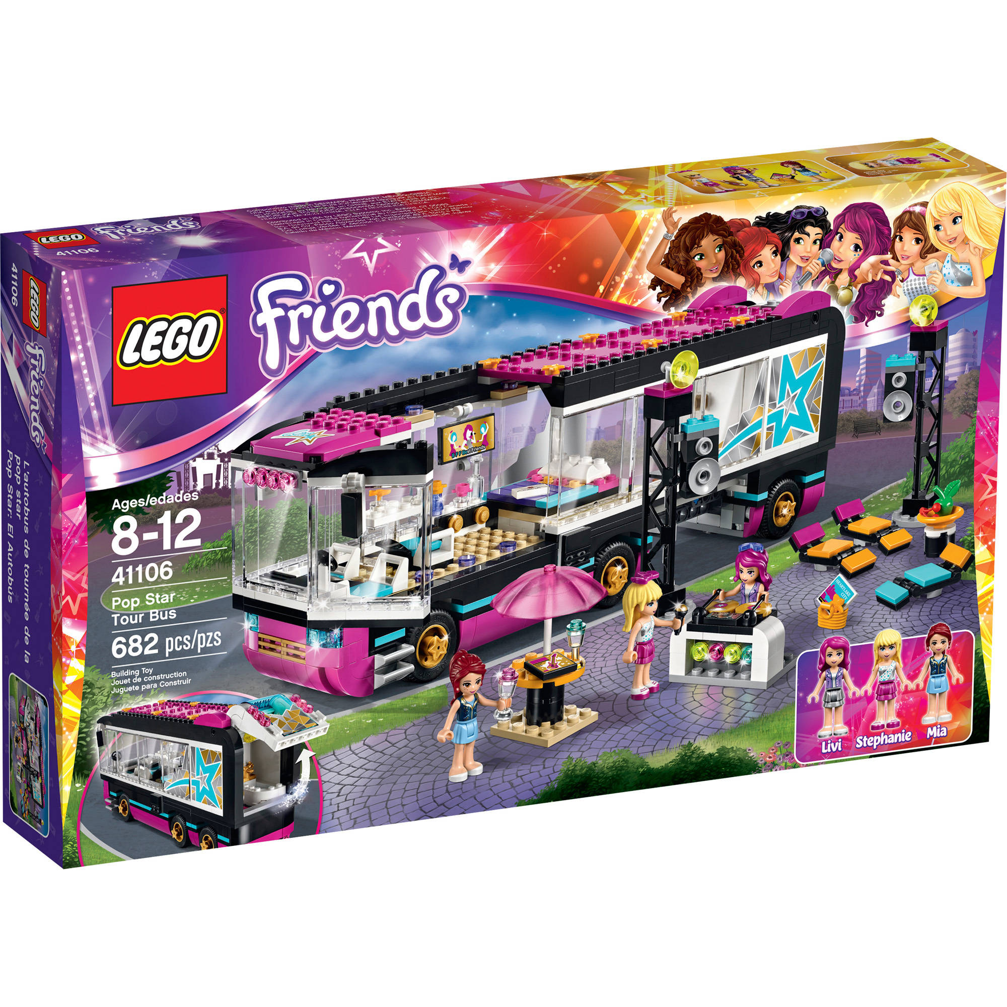 LEGO Friends Pop Star Tour Bus, 41106