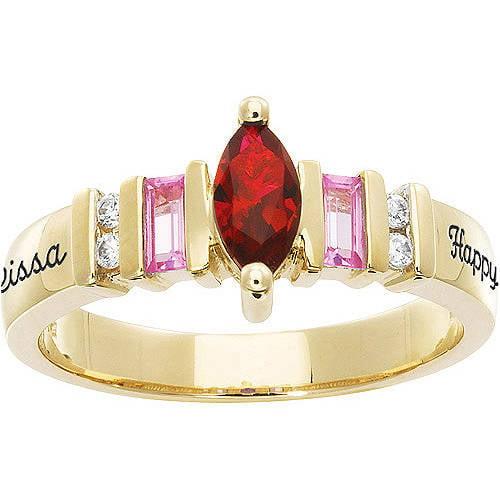 Personalized Keepsake Gracious Marquise Gemstone Ring