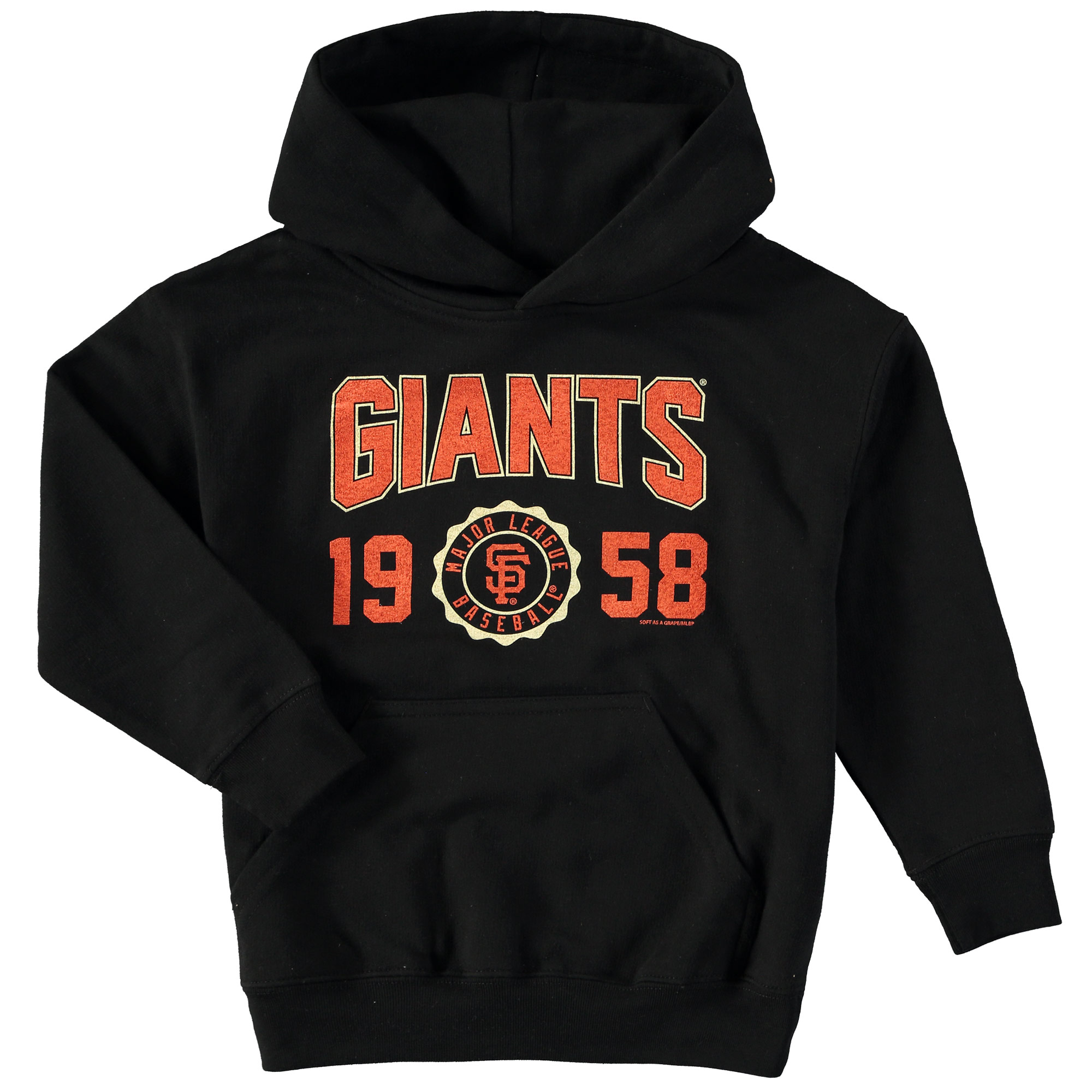 San Francisco Giants Soft as a Grape Youth Team Pullover Hoodie - Black