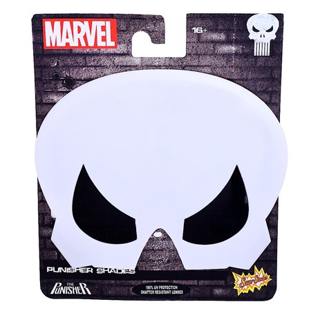 The Punisher Costumes (Party Costumes - Sun-Staches - Marvel - Punisher - Logo Face New)