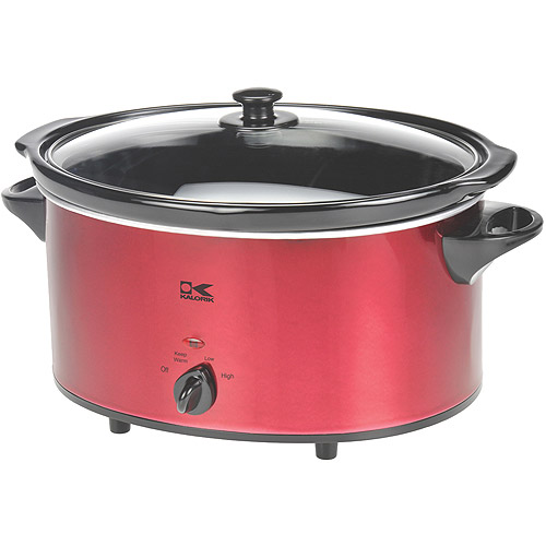 Kalorik Oval Slow Cooker, Red, 6-Qt. - Walmart.com