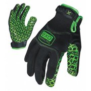 IRONCLAD EXO-MGG-04-L Large Black TPR Puller Cuff Grip Gloves