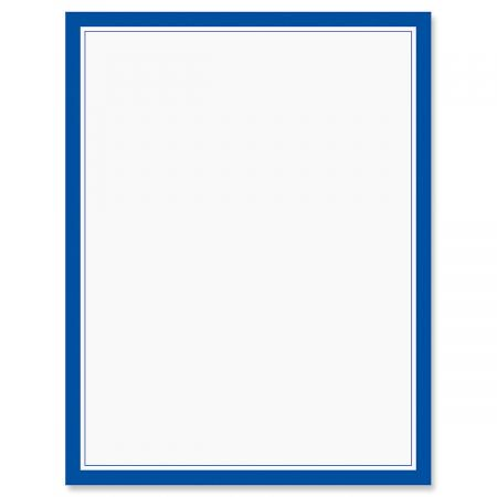 blue frame patriotic letter papers set of 25 american flag