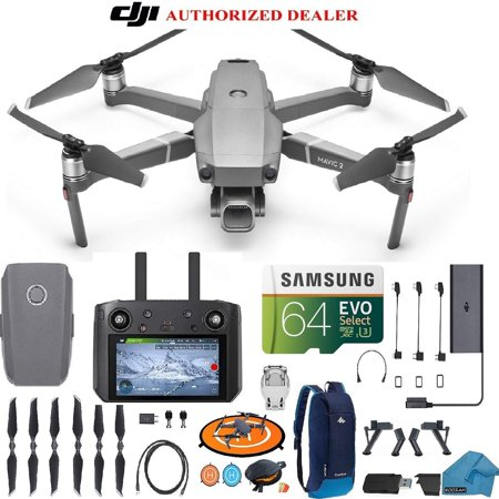 DJI Mavic 2 PRO Drone Quadcopter with Smart Controller (Built in Monitor) with Hasselblad Camera HDR Video UAV Adjustable Aperture Bundle Kit with Must Have Accessories