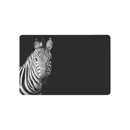 Zebra Bath Rugs - MKHERT Abstract Zebra Black and White Animal Doormat Rug Home Decor Floor Mat Bath Mat 23.6x15.7 inch