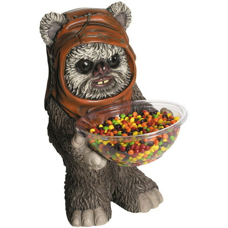Star Wars Ewok Candy Bowl and Holder Halloween Decoration - Best Halloween Decorations Outside