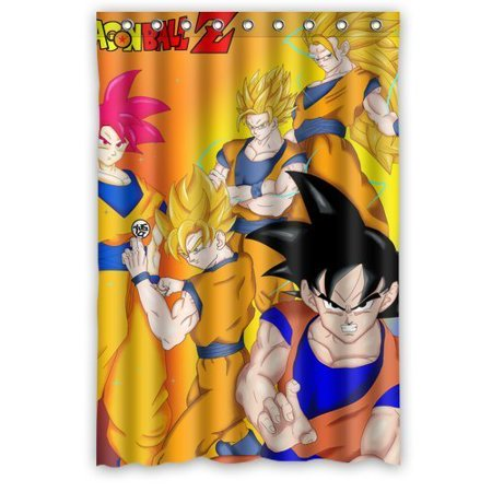 Deyou dragon ball z shower curtain polyester fabric for Dragon ball z bathroom