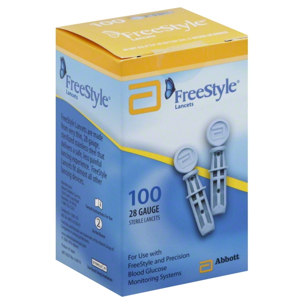 FreeStyle Lancets, 28G, 100 Ct
