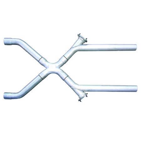 - Pypes Performance Exhaust XVX10 Exhaust X-Pipe Kit; Intermediate Pipe 2.5 in. Crossover; 3 in. Collector Flange At Each Of The Cutouts; Hardware Incl.; Natural 409 Stainless Steel;