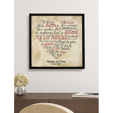 Personalized Wedding Vows Heart (Wedding Vow Art)
