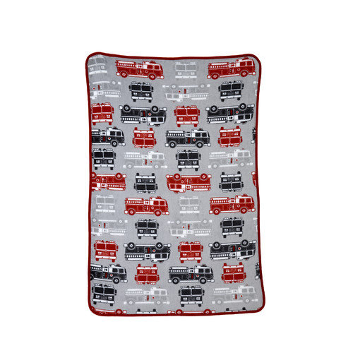 Carter's Fire Truck Printed Coral Toddler Fleece Blanket