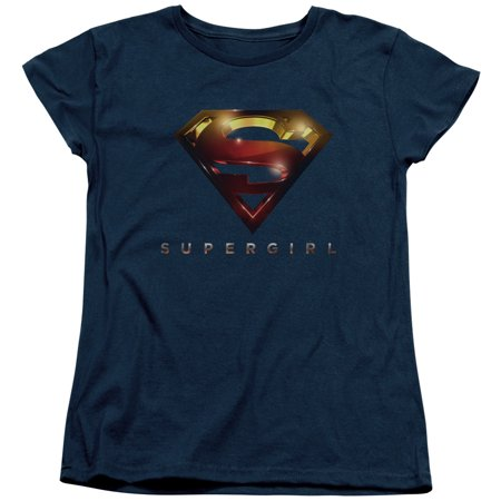 Supergirl Logo Glare Womens Short Sleeve Shirt (Supergirl T Shirt For Women)