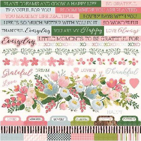 """- Full Bloom Cardstock Stickers 12""""X12"""" (10/pack)"""