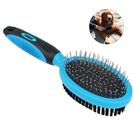 Petacc Dog Grooming Brush Self Cleaning Slicker Brushes Best Shedding Tools for Grooming Small Large Dog Cat Horse Short Long (Best Dog Brush For Yorkies)