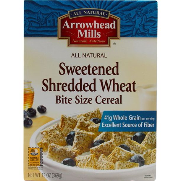 Arrowhead Mills Sweetened Shredded Wheat Cereal, 13 Ounce
