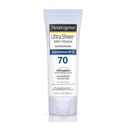 Neutrogena Sunblock Ultra Sheer Dry-Touch SPF 70 - 3 (Best Sun Creams For Protection)