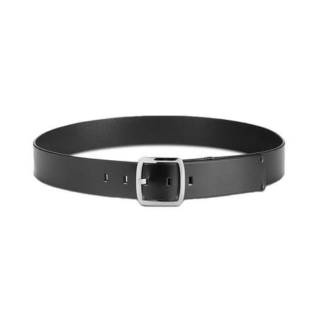 Calvin Klein Women's 42mm Flat Strap with Logo Plate Belt (Black, M) 1960's Womens Accessories Belt